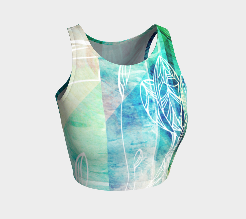 Dreams Teal - Crop Top