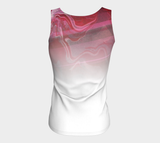 Canada Marble, Pink Red - Fitted Tank Top