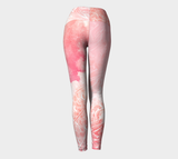 Wings Like Eagles Peach - Yoga Leggings