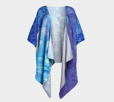 S/M - I Rise Purple in Silky Knit Fabric - Draped Kimono