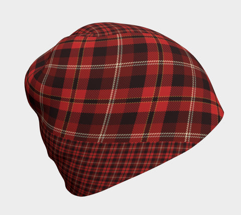 Tartan with a Twist, Red - Beanie