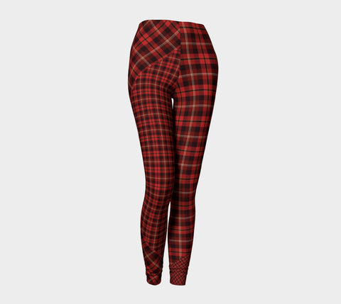 Tartan with a Twist, Red - Leggings