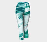 Infinite Love Turquoise - Yoga Capris