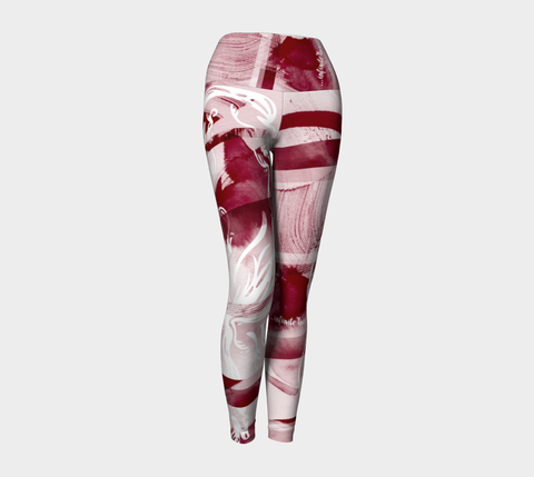 Infinite Love Merlot - Yoga Leggings