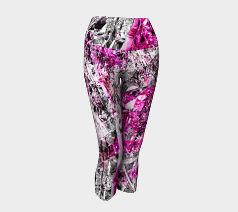 MEDIUM - Shine Fuschia - Yoga Capris