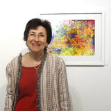 Sandra Benhaim during her exhibition at Cerulean Arts