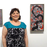 Kitty Caparella during her exhibition at Cerulean Arts