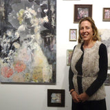 Leah Macdonald during her exhibition at Cerulean Arts