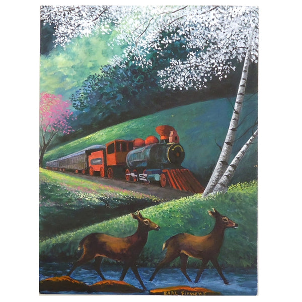Earl Flowers: Train and Deer