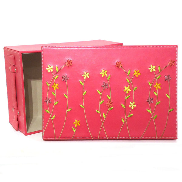 Embroidered Storage Box, Large