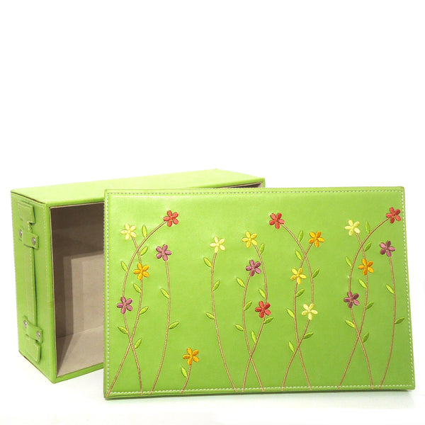 Embroidered Storage Box, Small