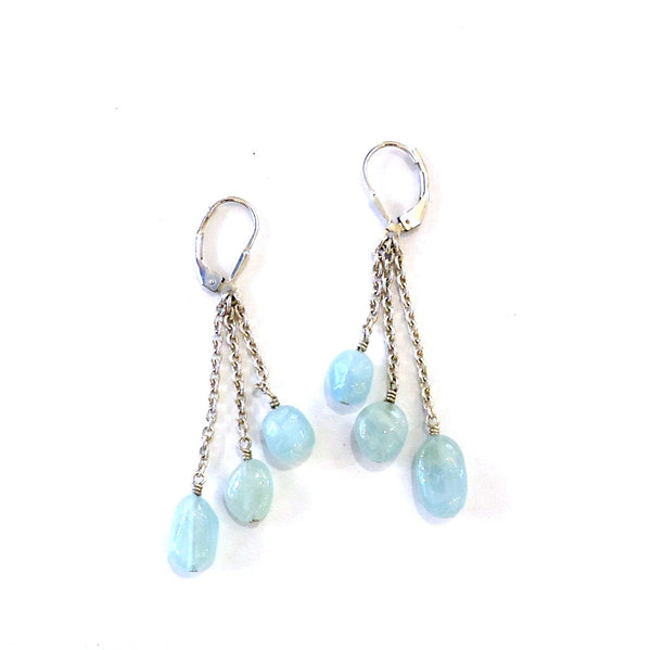 Aquamarine & Sterling Earrings