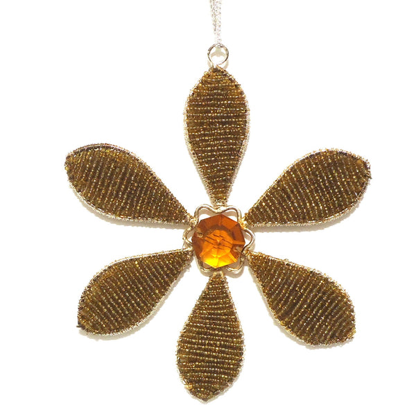 Beaded Flower Suncatcher