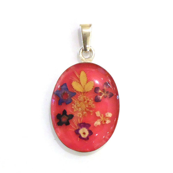 Flower and Resin Pendant