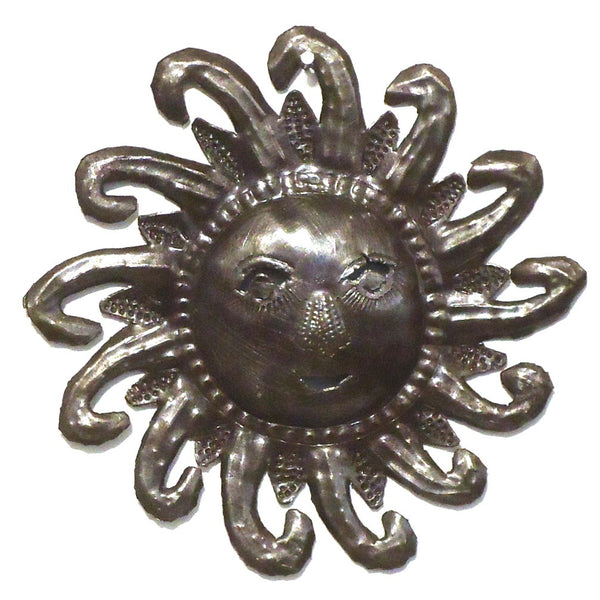 Haitian Metal Wall Sculpture: Small Sun