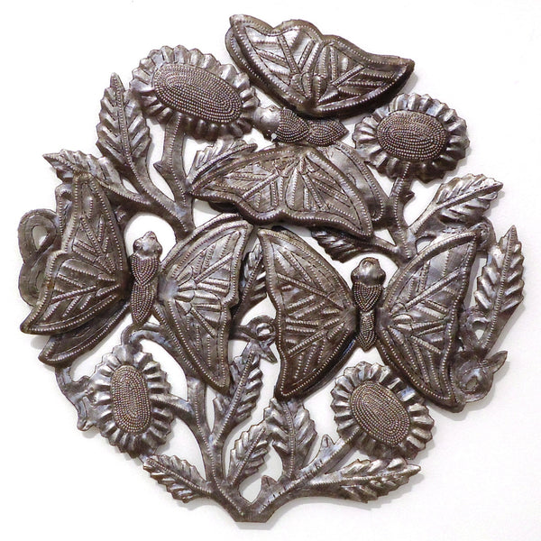 Haitian Metal Wall Sculpture: Large Butterflies