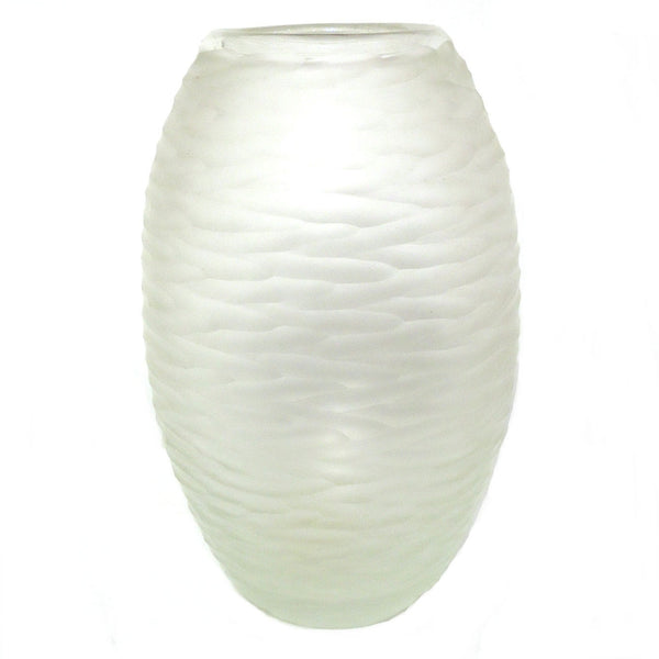 Frosted Ripple Vase