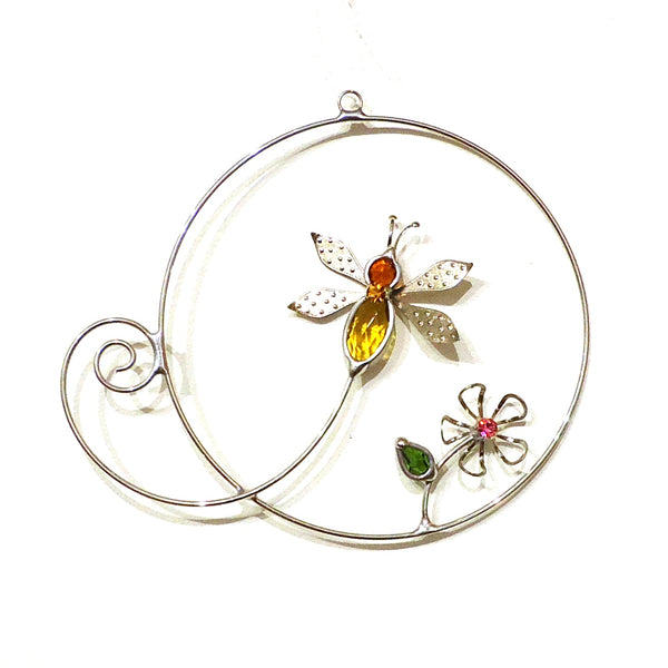 Bee & Flower Suncatcher