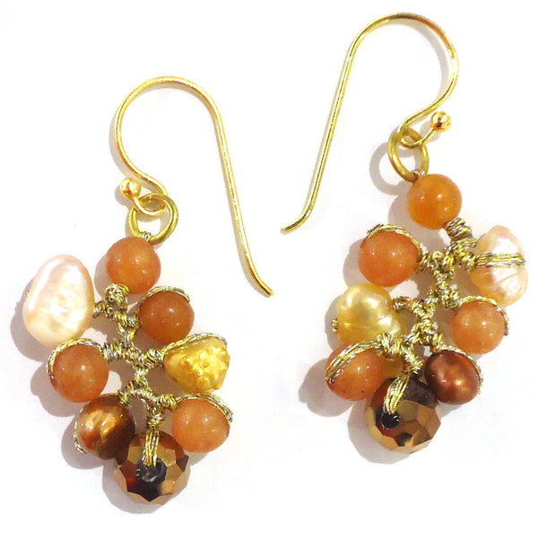 Peach Bead Earrings