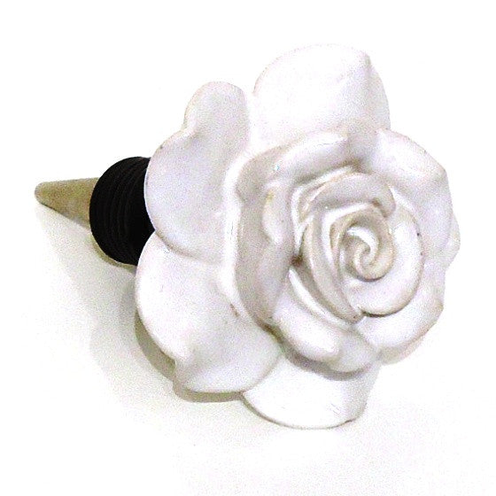 Ceramic Rose Bottle Stopper