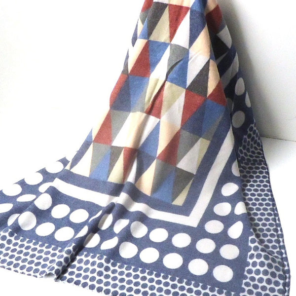 Triangle Pattern Scarf, Dark Blue