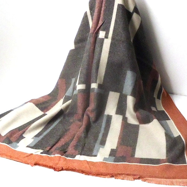 Geometric Icon Scarf, Maroon