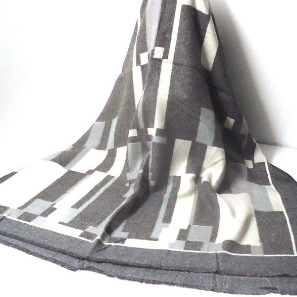 Geometric Icon Scarf, Charcoal