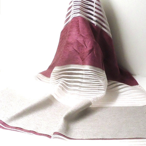 Lace Stripe Scarf, Purple