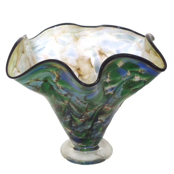 Green and Blue Glass Vase