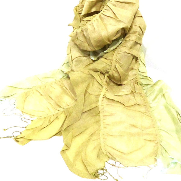Cotton and Silk Ruffle Scarf
