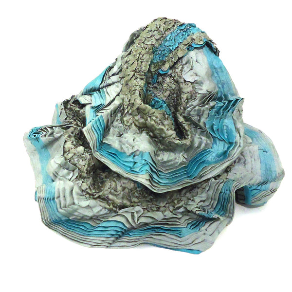 Silk Pleated Infinity Scarf
