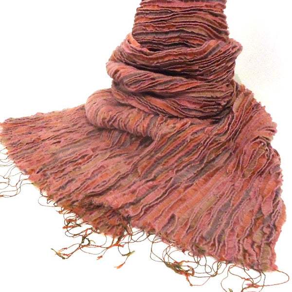 Silk & Wool Stole, Rose