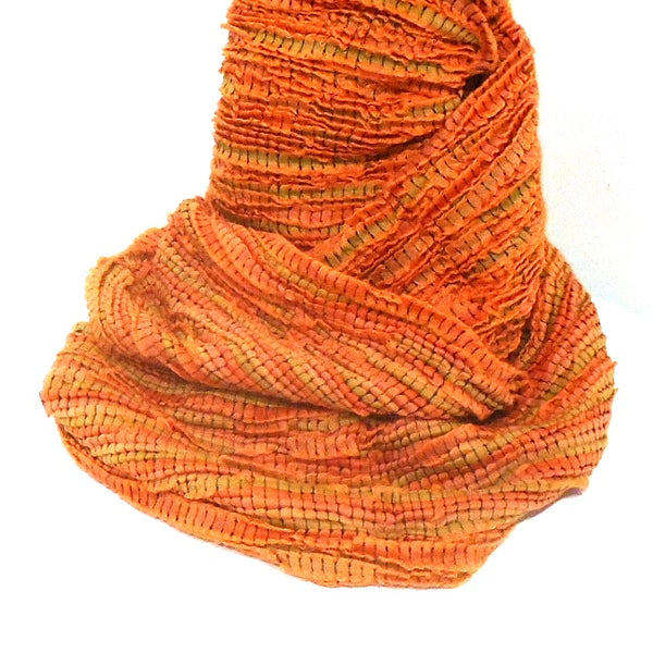 Pleated Infinity Scarf, Peach