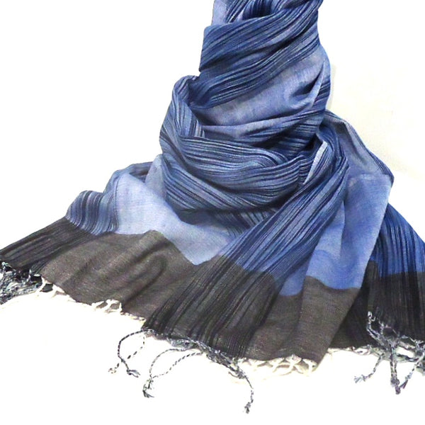 Wool & Cotton Ikat Scarf