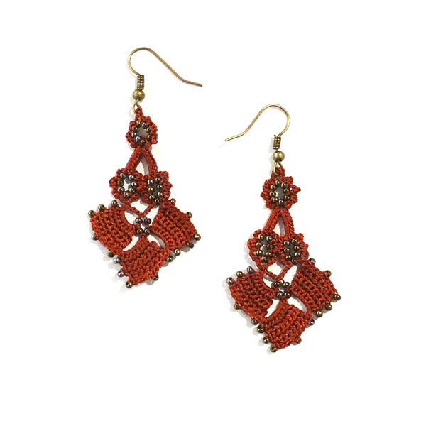 Diamond Parade Earrings - Marsala