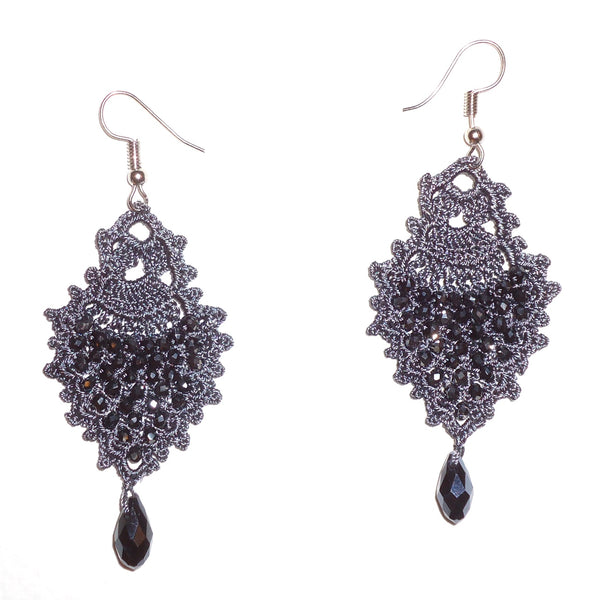 Sole Earrings - Charcoal