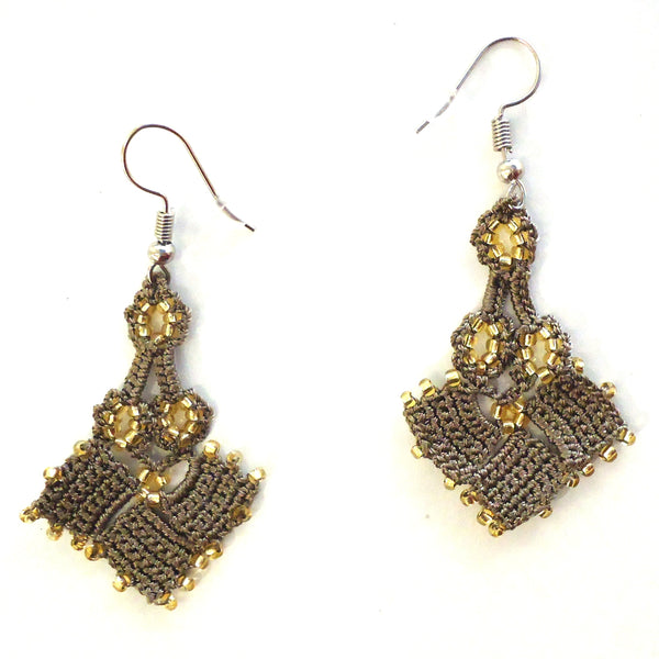 Diamond Parade Earrings - Taupe