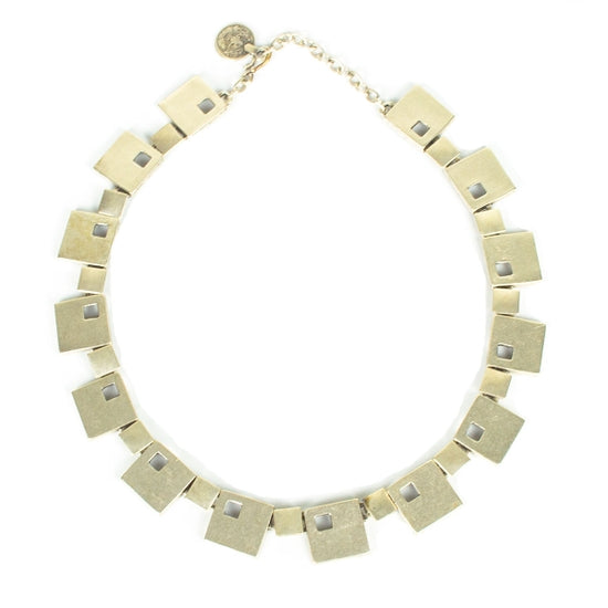 March of Squares Necklace