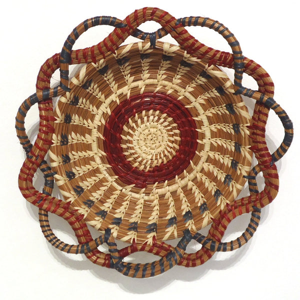 Round Pine Needle Basket, Small