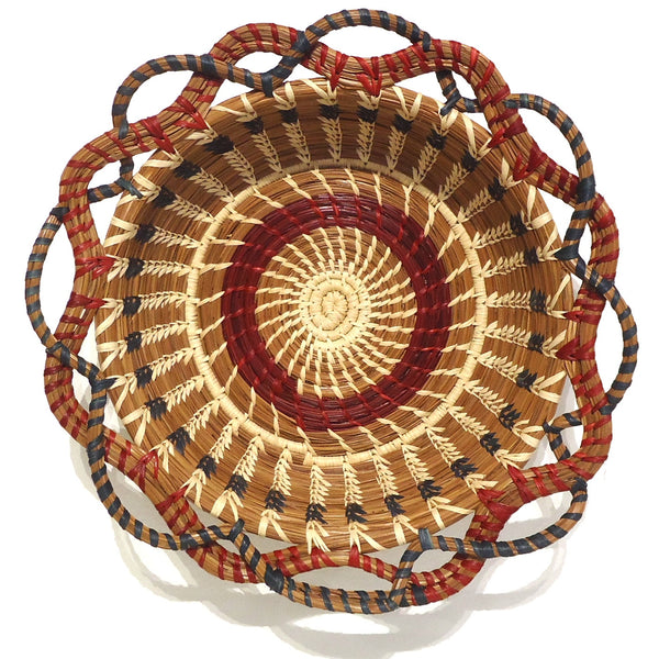 Round Pine Needle Basket, Large