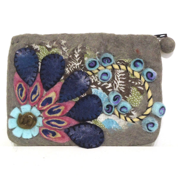 Flower Burst Purse, Gray