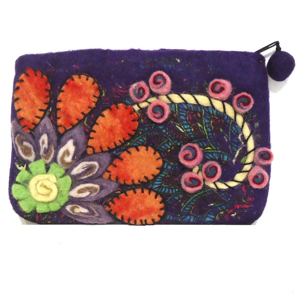 Flower Burst Purse, Purple
