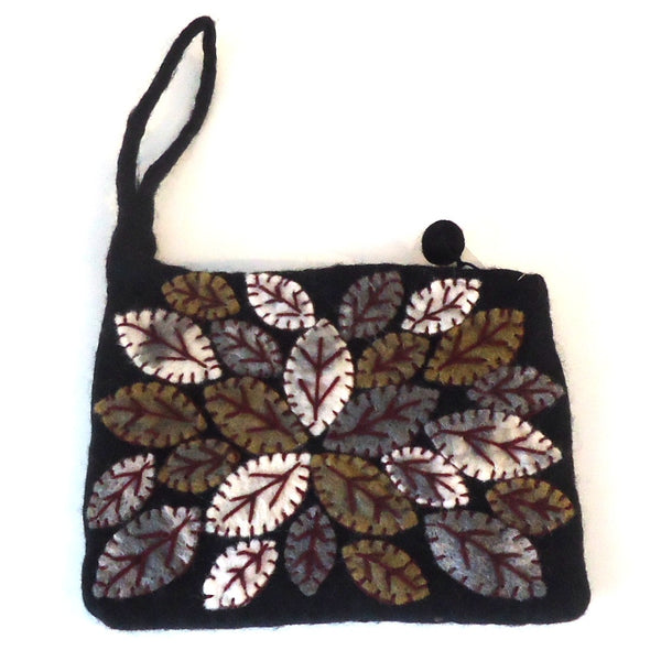 Leaf Cluster Purse, Black