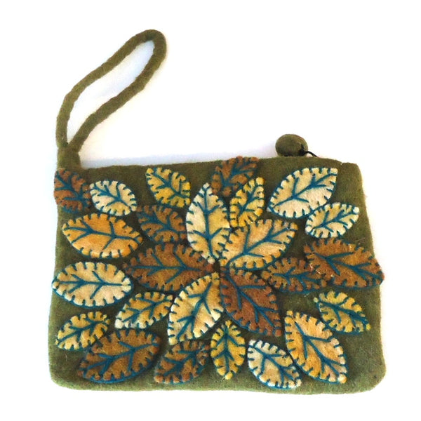 Leaf Cluster Purse, Green