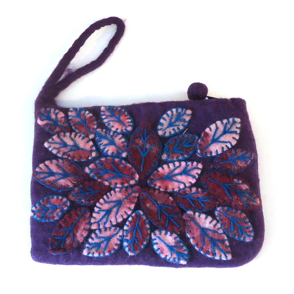 Leaf Cluster Purse, Purple