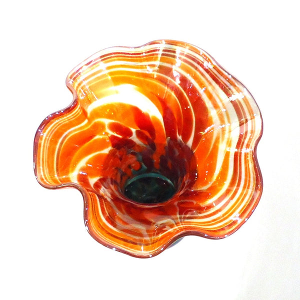 Glass Ruffle Vase