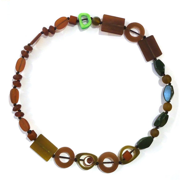 Resin Necklace - Brown