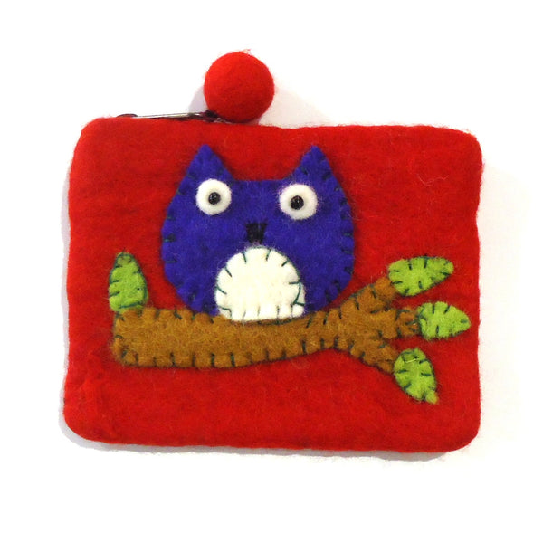 Felt Coin Purse - Owl