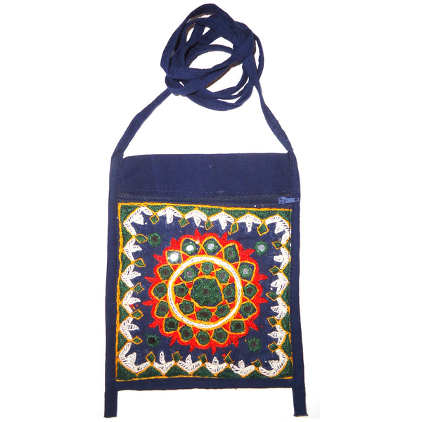 Kuchi Embroidered Bag - Navy