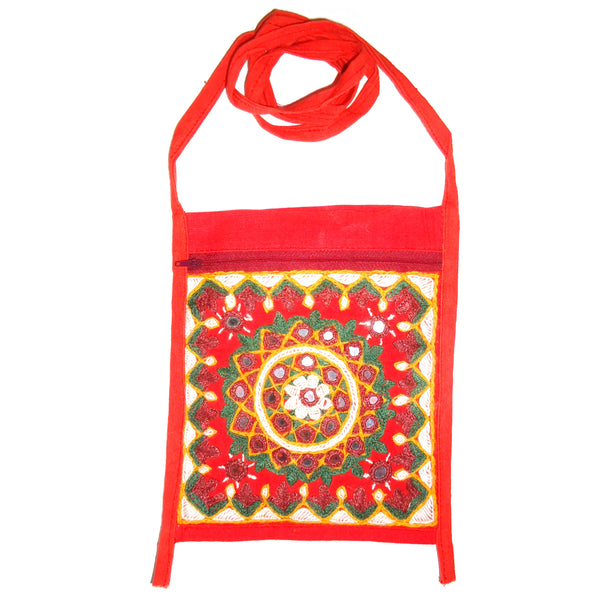 Kuchi Embroidered Bag - Red
